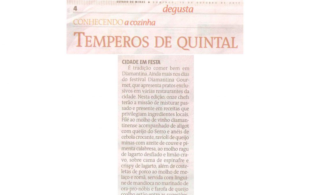 Diamantina Gourmet – Coluna Degusta – Jornal Estado de Minas