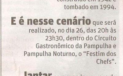 Circuito Gastronômico da Pampulha – Jornal O Tempo