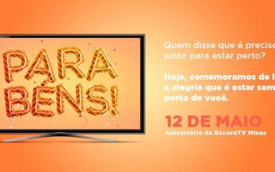 RecordTV Minas comemora 29 anos de sucesso